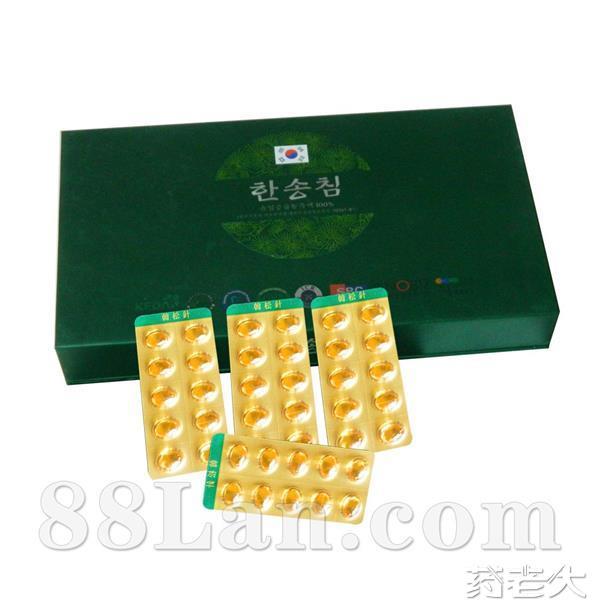 韩国进口松针、国产松针、松花粉 60粒装