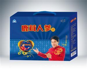 鹿茸人参开窗礼盒蓝色(药乡人)500mlx2