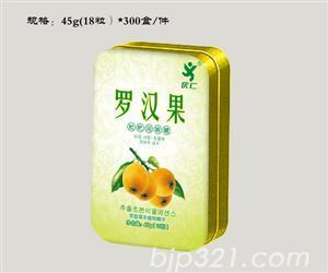 罗汉果润喉糖(铁盒装)45g(18粒)x300盒