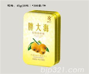 胖大海润喉糖(铁盒装)45g(18粒)x300盒